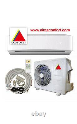 12,000 BTU System Ductless Air Conditioner, Heat Pump Mini split 220V 1 Ton withkit