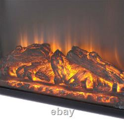 1800W Electric Inset/Wall-mounted Fireplace Flame Effect Heater Fire with Remote