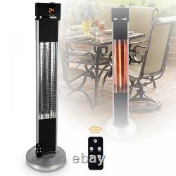 2kW Remote Control Portable Outdoor Garden Free Standing Patio Heater 3 Settings