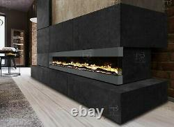 3 Sizes White Black Grey Wall Recessed Insert Mantel Wide Electric Fire 2021