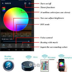 30mm Wifi Remote Control APP RGB LED Decking Lights Garden Stair Lighting Lamps