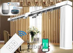 4-Meter (157) Remote Control Electric Automated Curtain Tracks with Remote