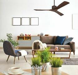 52-inch Indoor Ceiling Fan MACAU BRONZE Blades Walnut with Remote Control