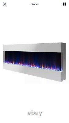 60 Black Electric LED Fire Wall Mounted recessed/flush/insert With Remote