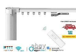 6M Motorised Curtain Tracks, Remote Control Curtain, Electric Curtain Rail