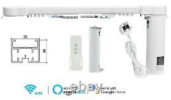 78 Smart Electric Curtain Track, Motor, Remote Control, for Alexa Google Home