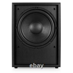 Active Subwoofer PA Speaker DJ Powered Bass Reflex Home Cinema Hi Fi Black 250W