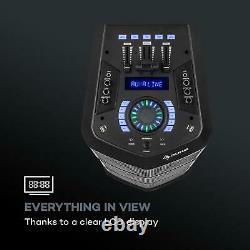 Auna Clubmaster TripleBeat Party Station 250 W max. 3x 10 Woofer USB BT AUX FM