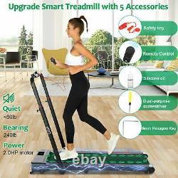 CAROMA Walking Treadmill Machine LED Display &Remote Control Fitness Machine 2HP