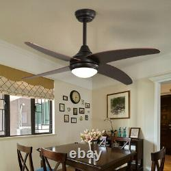 Ceiling Fan LED Light Adjustable Wind Speed Dimmable with Remote Control & Timer