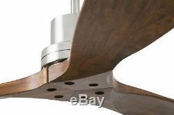 Ceiling fan Faro Lantau Nickel matt Blades Walnut 132 cm 52 with remote control