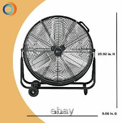 Comfort Zone CZMC24 2-Speed High-Velocity 24 Industrial Drum Fan