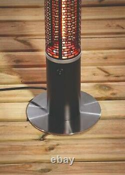Daewoo 3 in 1 Light Up Patio Heater With Bluetooth Speaker & 360° Ambient Heat