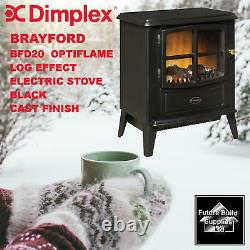 Dimplex Brayford Bfd20r Optiflame Log Effect Electric Stove Black Cast Finish
