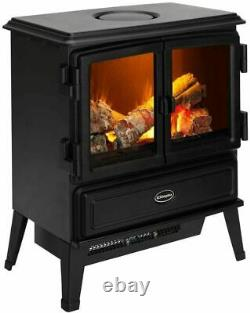 Dimplex Oakhurst Opti-myst Electric Stove 2KW FIRE REMOTE OPENING DOORS HEATING