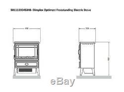 Dimplex Opti-myst Electric Stove Black Rtopstv20