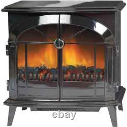 Dimplex SKG20BLN Stockbridge Log Effect / Coal Bed Freestanding Electric Fire