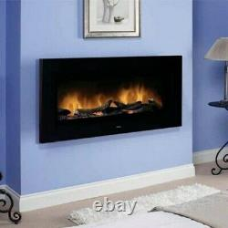 Dimplex SP16 Electric Fire 2KW Wall Mounted Optiflame Logs Black Ex-Display