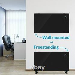 EGH20AWB electriQ 2000W designer glass heater with smart app