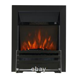 Electric Modern Black Remote 2kw Flame Coal Display Insert Led Fireplace Fire