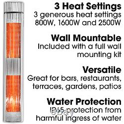 Electric Outdoor Patio Garden Heater 2500W 2 x Remote Controls