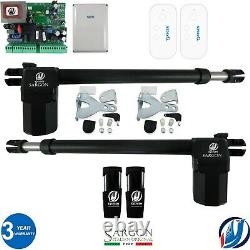 Electric Swing Gate Opener Operator Double Arms Remote Control Electric Gate Kit