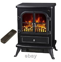 Galleon Fires AGENA Electric Stove with Remote Control -electric fire- Black
