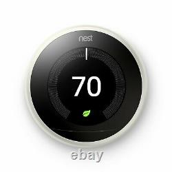Google Nest Learning Thermostat 3rd Generation White Brand New