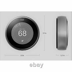 Google Nest Learning Thermostat Smart (3rd Generation, White) T3017US