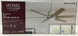 HDC Indoor Ceiling Fan 54 Kensgrove LED Remote Brushed Nickle Frosted Glass