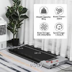HOMCOM 500W Electric Motorised Walking Treadmill Fitness Machine Remote Control