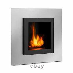 Heater Infrared Firreplace Modern 4 h 600 ml Stainless Steel Black & Silver
