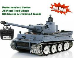 Heng Long Radio Remote Control RC German Tiger PLATINUM ALL Metal Road Wheels UK