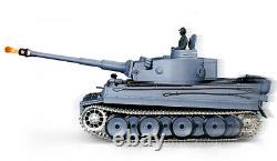 Heng Long Radio Remote Control RC Tank German Tiger One Metal Tracks 6.0v UK