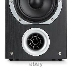 Hi Fi Speaker System Subwoofer 4 Way Loud Audio Sound DJ Party 440 W Power Black