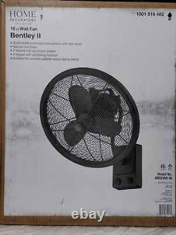 Home Decorators Bentley II 18 Indoor/Outdoor Natural Iron Oscillating Wall Fan
