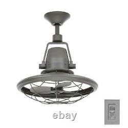 Home Decorators Bentley II Indoor/Outdoor Natural Iron Oscillating Ceiling Fan