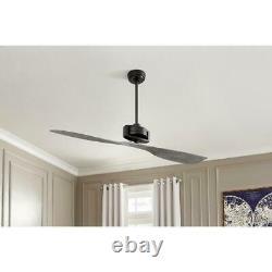 Home Decorators Collection Alderbrook 60'' Indoor Matte Black Ceiling Fan with RC