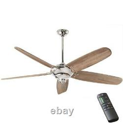 Home Decorators Collection Altura DC 68 Polished Nickel Ceiling Fan withRemote