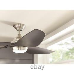 Home Decorators Collection Bachton 60 in. LED DC motor Brushed Nickel Ceiling Fan