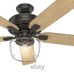 Hunter Fan 52 inch Casual Nobel Bronze Ceiling Fan with Light Kit & Remote Control