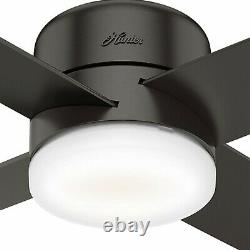 Hunter Fan 54 in Contemporary Noble Bronze Ceiling Fan with Light Kit and Remote