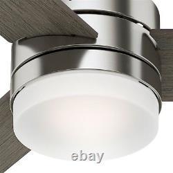 Hunter Fan 54 inch Modern Brushed Nickel Finish Ceiling Fan with LED Light Kit