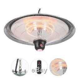 Infrared space Heater Patio Electric Ceiling Hanging Outdoor Indoor Remote 2000W