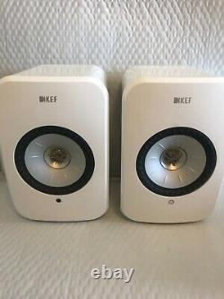 KEF LSX Hi-Res Wireless Speakers (Pair) Gloss White