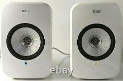 KEF LSXWH LSX Hi-Res Wireless Bluetooth Speakers in Gloss White Pre-Owned