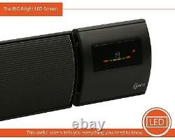 KIASA -1800W Infrared Radiant Heater Bar -WiFi -Remote-Timer -Wall/Ceiling -IP44