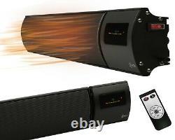 KIASA -2400W Far Infrared Heater Bar -Remote & Timer -Wall & Ceiling Mount -IP44