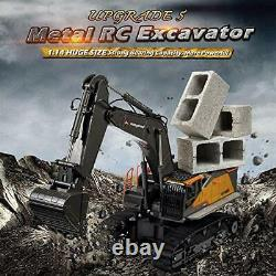 Kolegend 22 Channel Hobby Remote Control Excavator, 1/14 Scale Full Metal