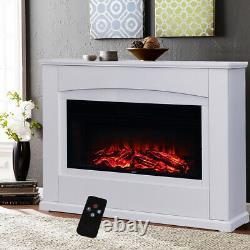 LED Flame Fireplace Electric Fire Mantelpiece Heater Wood Surround Suite UK Plug